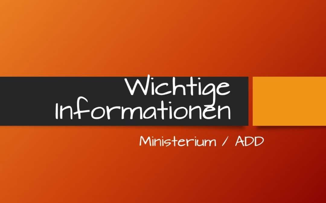 Elterninformationen Ministerium/ADD